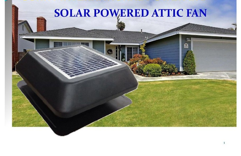Solar Exhaust Roof Vent 15w 14 Quot Brushless Motor Fixed