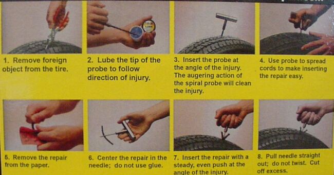 tyre repair kit instructions