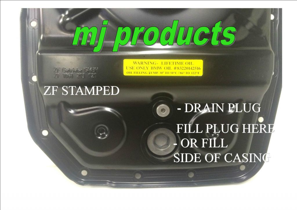 GENUINE ZF 6HP26 6 Spd ford Automatic Transmission Steel Sump/pan  Conversion kit