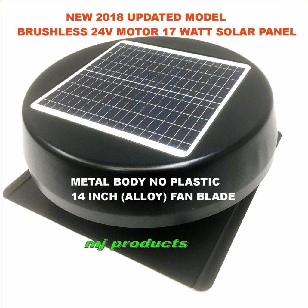 Solar Roof Ventilator : Solar roof vent watt panel extractor