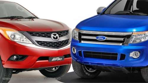 Ford Ranger and Mazda BT50